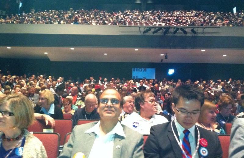 Jay Bhandari at Virginia Democratic Convention