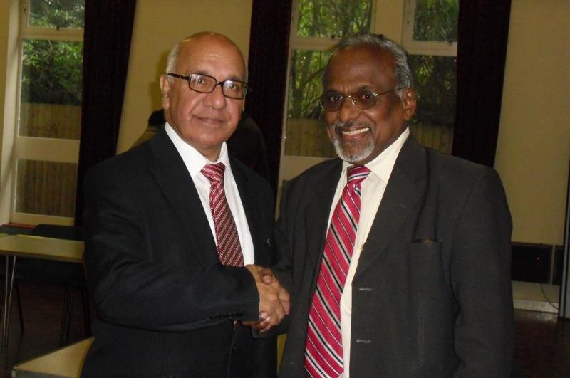 GOPIO Exec VP Sunny Kulathakal with Veerendra Sharma MP