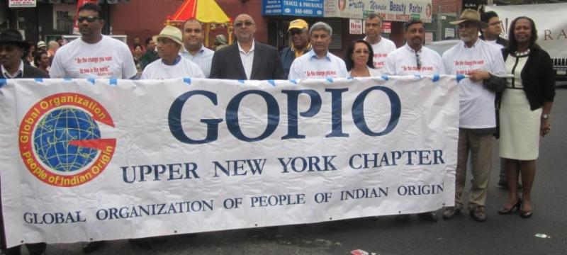 GOPIO Upper New York. at Gandhi Peace March