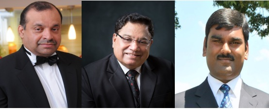 GOPIO CSA Awardees 2013 - Sunny Augustine, Vasu Chanchlani and Iswar Ramlutchman
