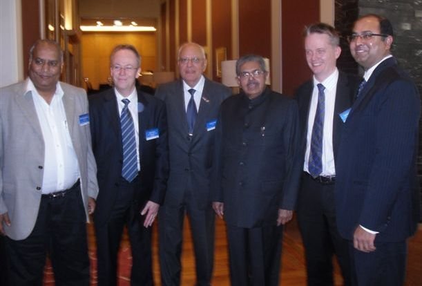 Newzealand-Indian Business Council and GOPIO officials with Minister Ravi