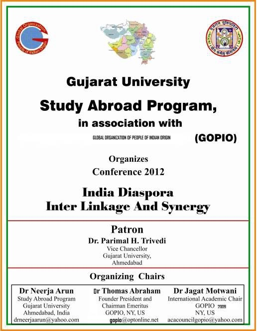 GOPIO and Gujarat University Diaspora Conference