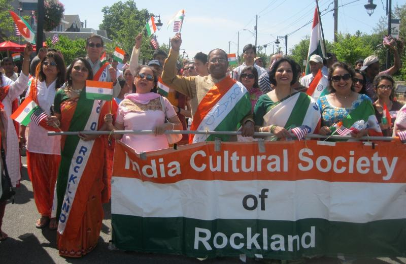 India Day Parade in New city, Rockland County, New York led by GOPIO Founder Dr. Thomas Abraham