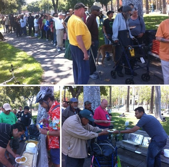 GOPIO-ilicon Valley Serving Food to the Homeless