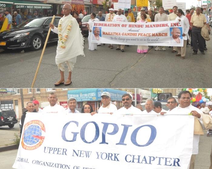 GOPIO Upper New York Participating in Gandhi Peace March - Sept. 30, 2012