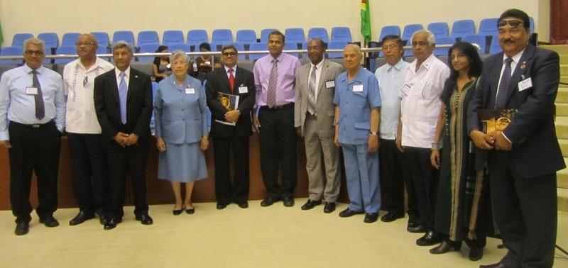 PIO Monument in Guyana - GOPIO Officers and Panelists at the Conference in Guyana on May 4, 2013