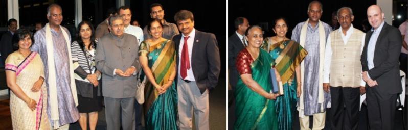 GOPIO-Brisbane Officials with Ministers Vayalar Ravi & K.C. Joseph