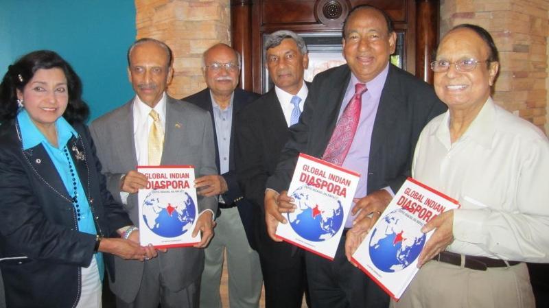 Global Indian Diaspora book presented to prominent Diaspora members