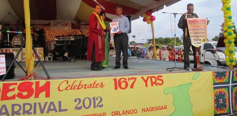 GOPIO President Ashook Ramsaran with Mayor Orlando Nagessar