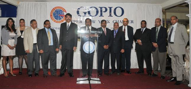 GOPIO Upper New York Offcials at the Third Anniversary