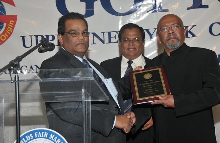 GOPIO Upper New York 3rd Anniversary - Dr. Clem Seecharan receives plaque.