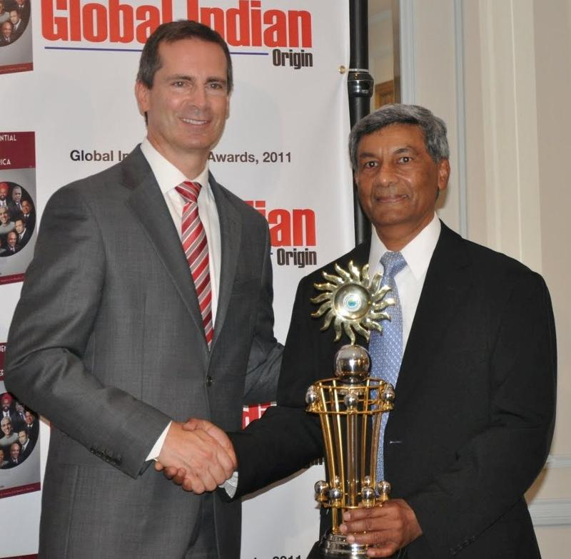 Ashook Ramsaran being honored in Toronto, Canada