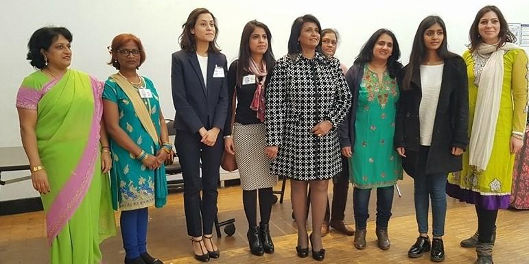 GOPIO France Women Council members with GOPIO Intl. Women's Council Chairperson Rita Abraham