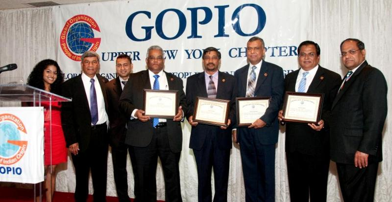 New Life Members of GOPIO being inducted, May 5, 2012