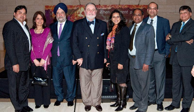 GOPIO-CT officials with Indian and Pakistan Ambassadors to the UN