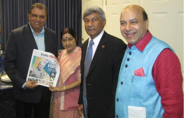 GOPIO President Ashook Ramsaran Meetign with Minister Sushma Swaraj