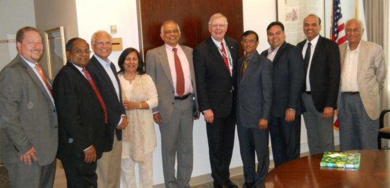 Ambassador Mulay and Stamford Mayor Martin with GOPIO-CT Officials