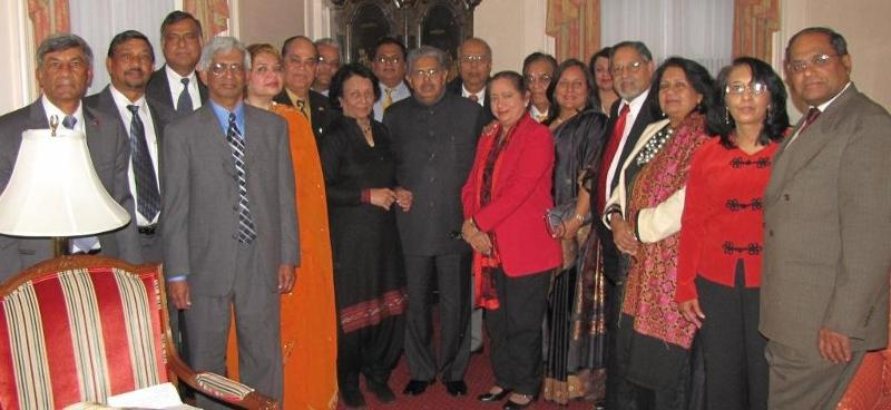 GOPIO delegation meets Minister Vayalar Ravi in New York on August 25th, 2012
