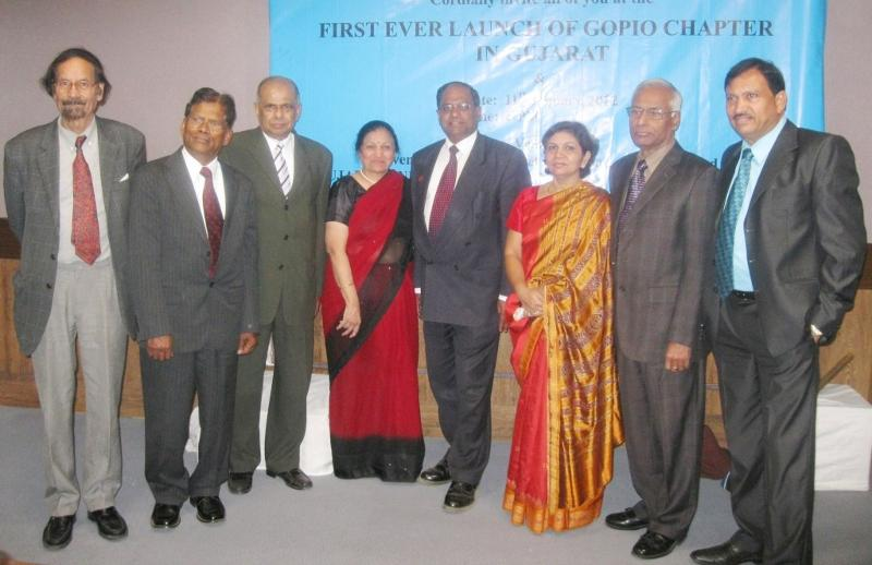 GOPIO Life Members at GOPIO-Ahmedabad launch