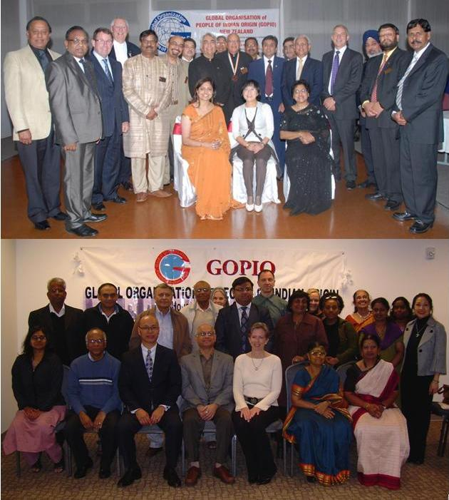 GOPIO New Zealand chapters and GOPIO-Houston teams and dignitaries