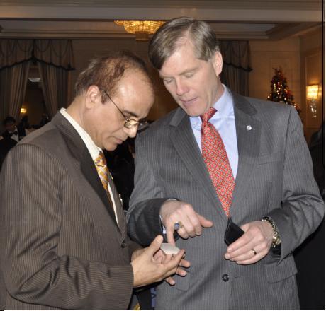 GOPIO-Virgina President Jay Bhandari with VA Governor McDonnell