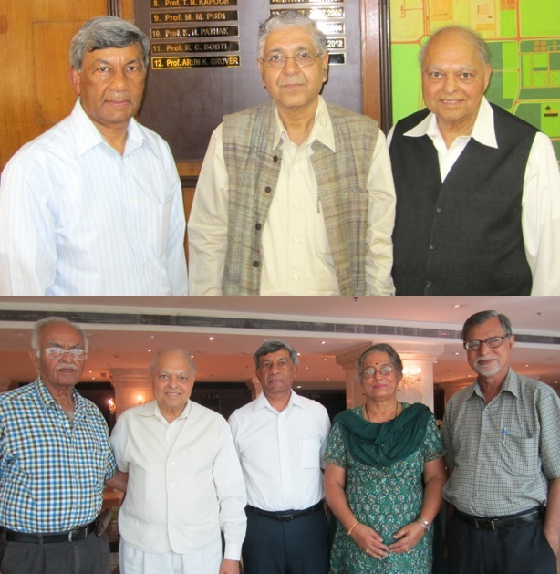 GOPIO Officials with Prof. Arun Grover and Dr. Savitri Sawhney