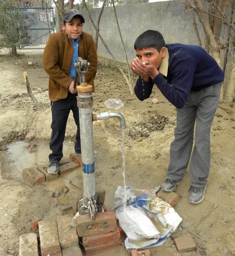 GOPIO Australia installs hand pump at Punjab school