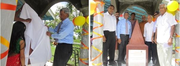 PIO Mounumnet in Guyana - Unveiling in Highbury.by GOPIO President Ashook Ramsaran 5.5.201