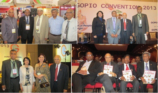 GOPIO officials with delegates from different countries at GOPIO Convention 2013