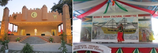 PIO Mounumnet in Guyana - Stages at Monument Garden and Highbury