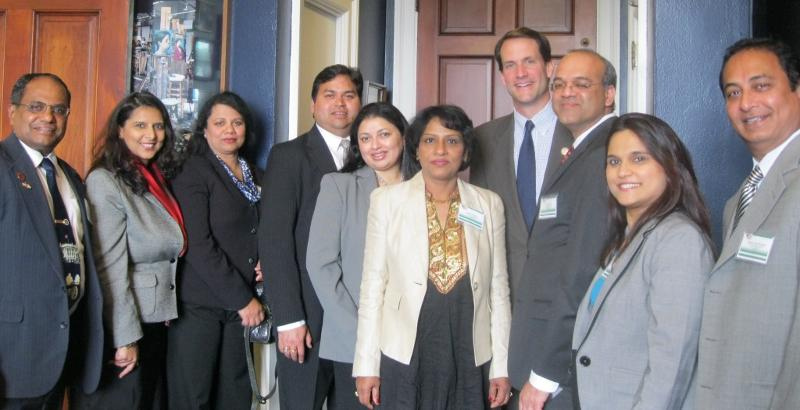 GOPIO-CT delegation with Congressman Jim Himes before Congressional Luncheon