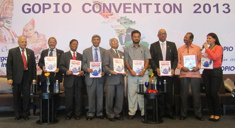 GOPIO Conv. 2013 in Kochi. Speakers at the Session on Diaspora Issues