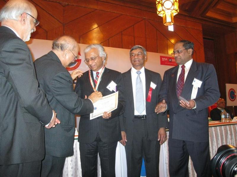 T.K.A. Nair being inducted GOPIO's Honor Roll at GOPIO Banquet, Jan. 2011