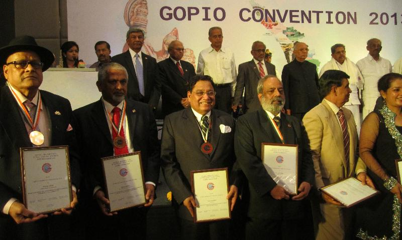 GOPIO CSA Award Recipients with GOPIO Officials and Dignitaries