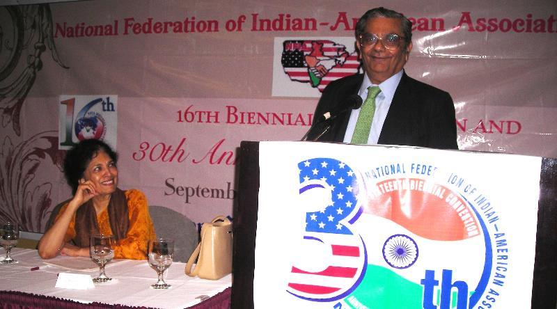 Prof. Jagdish Bhagwati delivering keynote address
