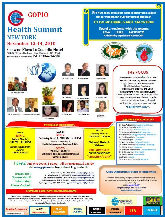 GOPIO Health Summit Ad.