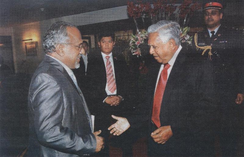 GOPIO Intl Coordinator Kulathakal with Singapore President S.R. Nathan