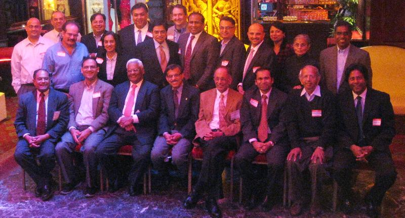 The Steering Committee for The Indus Nanotechnology Association (TINA) at its lunch