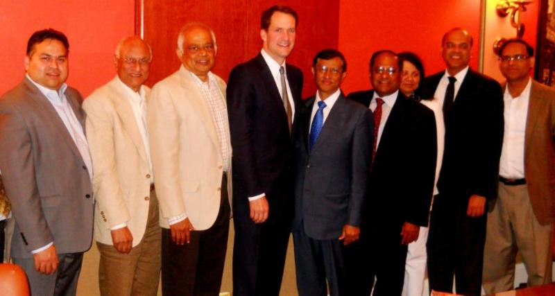 Ambassador Mulay and Congressman Jim Himes with GOPIO-CT Officials