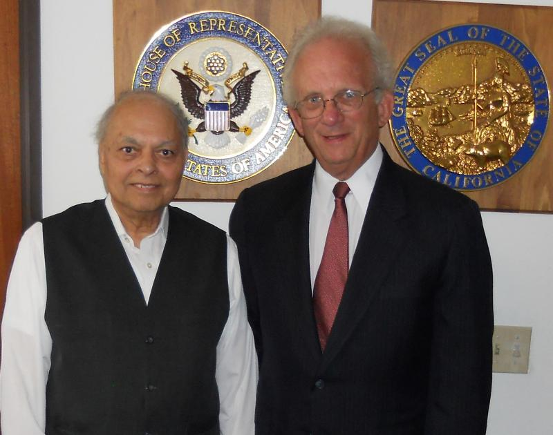 GOPIO Chairman Inder singh Meets Congressman Berman on the US tax issue