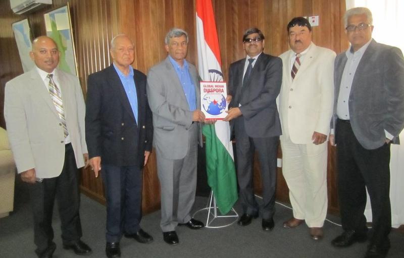 PIO Mounumnet in Guyana- GOPIO Group with Indian High commissioner Meena
