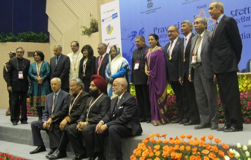 Pravasi Bharatiya Samman Awardees 2011 with President Pratibha Patil