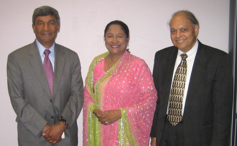 Trinidad PM Kamla Persad Bissessar with GOPIO Officials