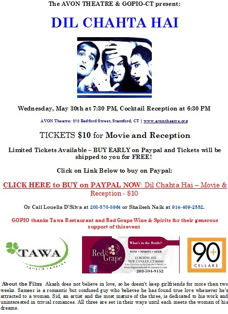 GOPIO HOSTS NETWORKING RECEPTION AND MOVIE IN STAMFORD, CT, USA