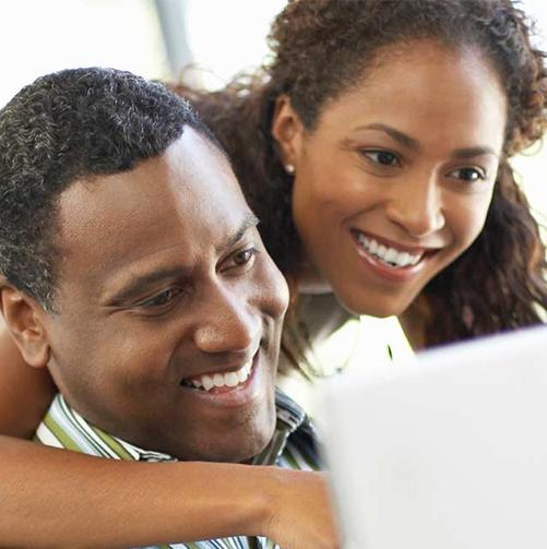 Parents at laptop