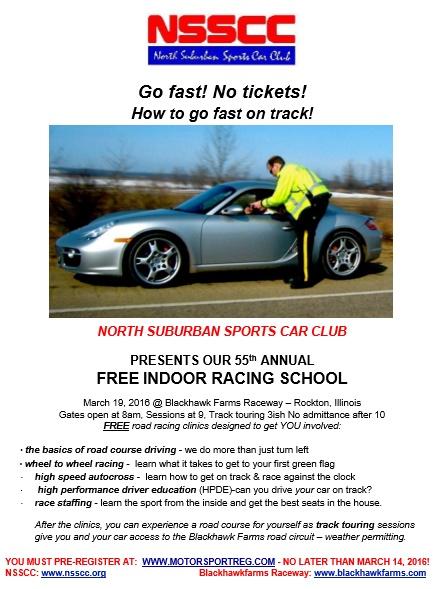 Indoor Race School Flyer