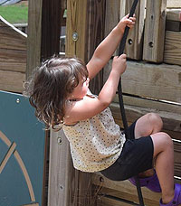photo of girl climbing