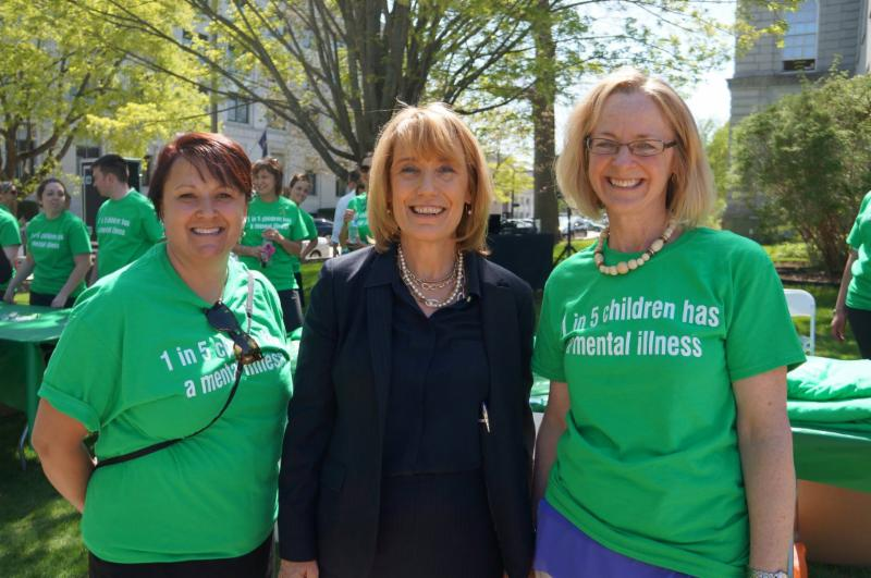 Gov. Hassan and advocates