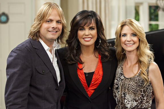Lee Roy, Marie Osmond and Elaine Roy  |  Credit: Crown Media United States, LLC/Alexx Henry Studios