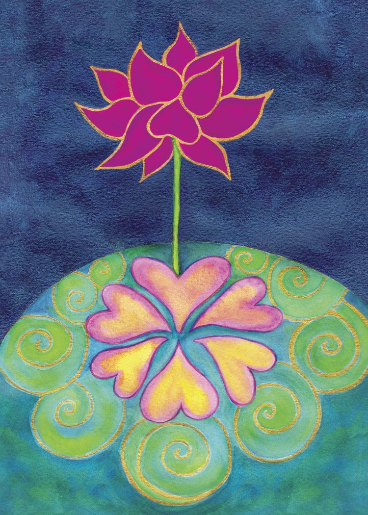 6 heart lotus